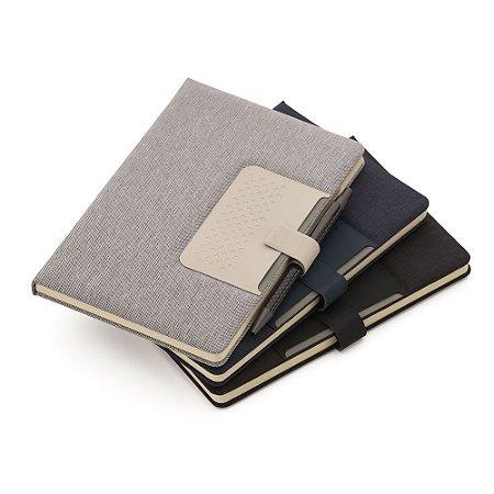 Caderno de anotações com suporte para caneta, fechamento magnética, código: SKCAD280