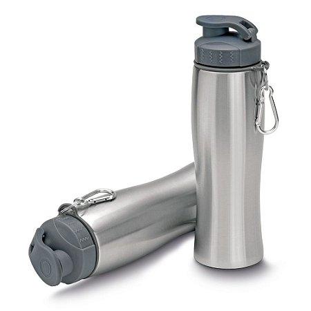 Garrafa de aço inox 750 ml com mosquetão SKGA0132
