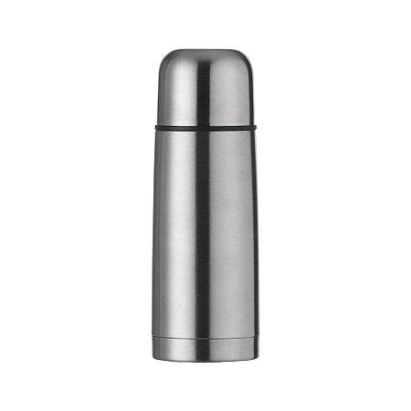 Garrafa térmica 350ml em inox ,Acompanha capa protetora de couro sintético com alça. SK01115