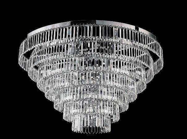 Plafon de Cristal legitimo asfour redondo 13 lampadas cromado
