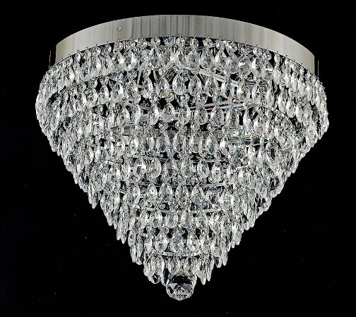 Lustre de cristal legitimo asfour 7 lampadas 9 saias cromado