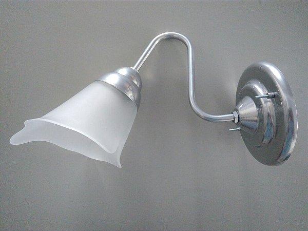 Arandela de aluminio atenas com vidro liz