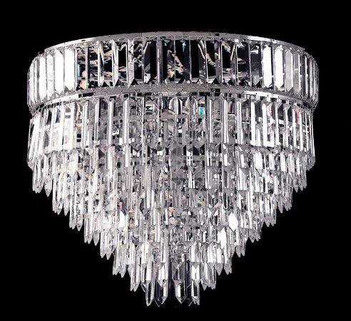 Plafon de Cristal legitimo Asfour 4 lampadas Cromado