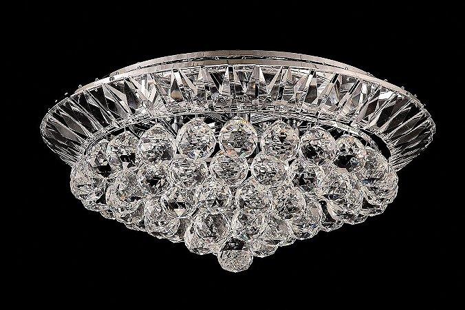 Plafon de cristal legitimo 4 lâmpadas cromado