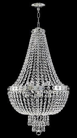 Lustre de cristal italiano legitimo Império 6 lâmpadas Aro Liso Cromado