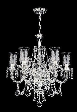 Lustre de Cristal legítimo asfour Maria Teresa 6 lâmpadas transparente Cromado