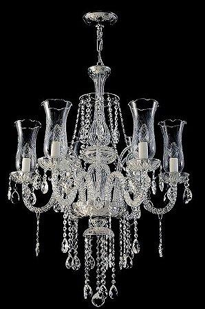 Lustre de Cristal legítimo asfour Maria Teresa  6 lâmpadas - cromado