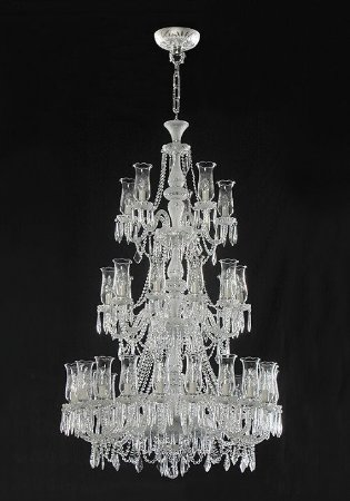 Lustre de Cristal legítimo asfour Maria Teresa Lapidado 35 lâmpadas cromado