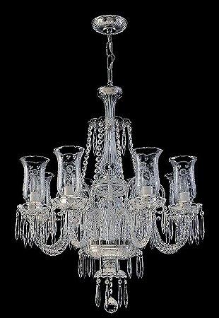 Lustre de Cristal legítimo asfour Maria Teresa 8 lampadas Cromado