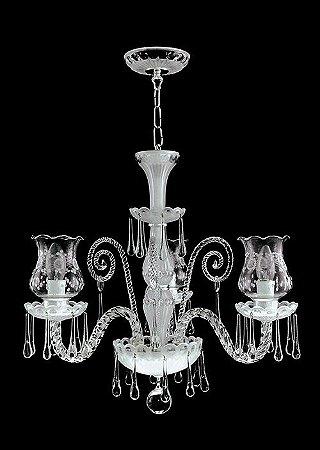 Lustre de cristal legítimo asfour Maria Teresa 3 lampadas gota cromado