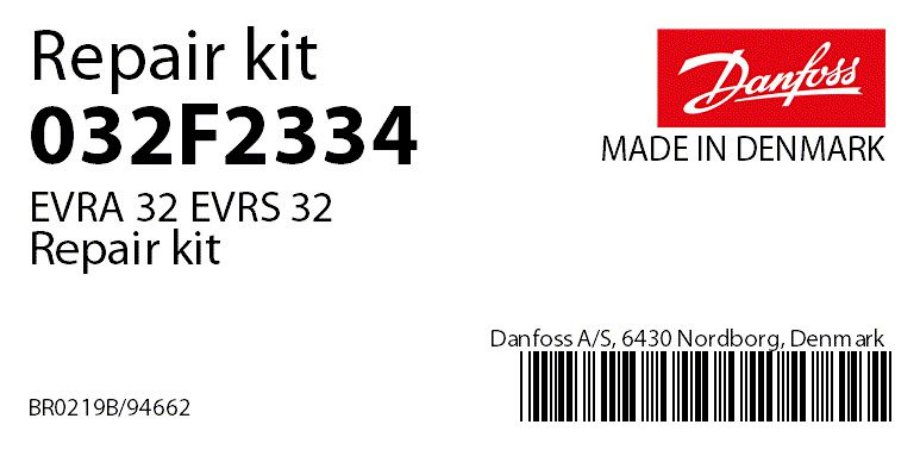 032F2334 Reparo Vedação EVRA 32 Danfoss