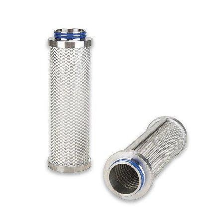 Elemento Filtrante Inox Plissado Ar/Vapor Estéril P-SRF V 10/30 - 2'' L - P7