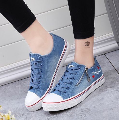 Tênis ALL-STAR Urban Jeans ZIP-UP - Dibby Store 133277f909651