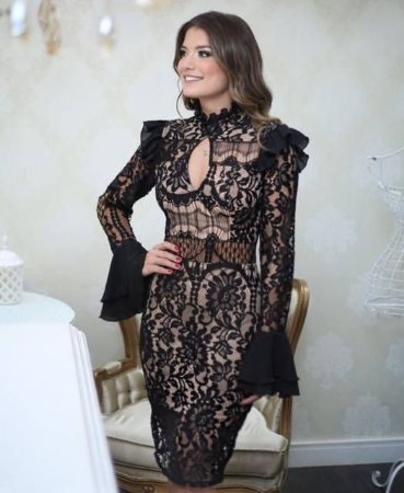 Vestido Renda Preto Ariane Canovas