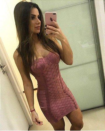 Vestido Bandage Vazado