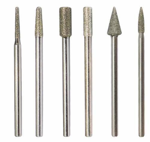 Kit 6 Brocas Diamantadas para Manicure Unha De Fibra, Gel e Porcelana
