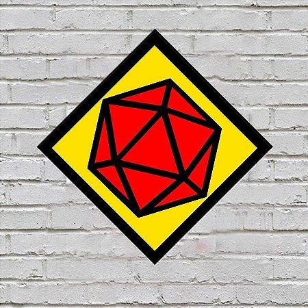 Placa de Parede Decorativa: Dado D20 - ShopB