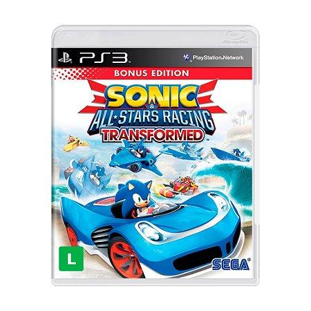 Jogo Sonic e All-Stars Racing Transformed (Edição Bônus) - PS3