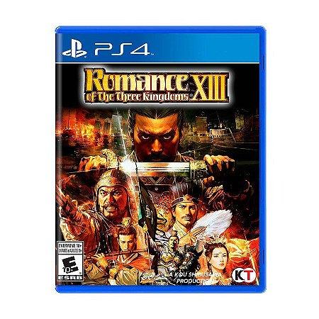 Jogo Romance of the Three Kingdoms XIII - PS4