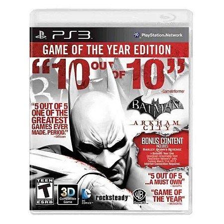 Jogo Batman: Arkham City (GOTY) - PS3