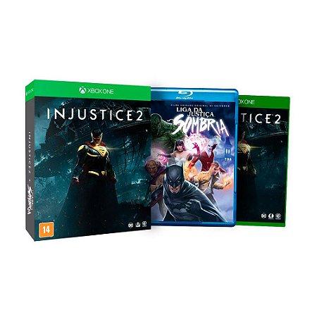 Jogo Injustice 2 + Filme Liga da Justiça Sombria - Xbox One