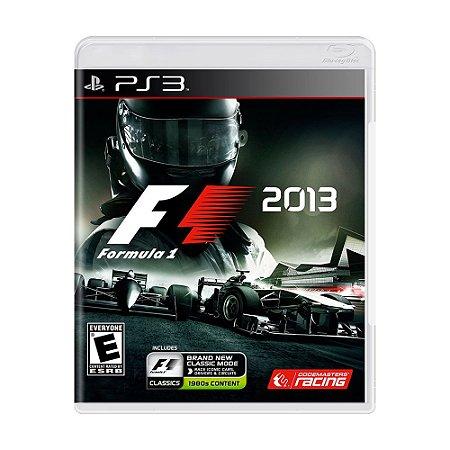 Jogo Formula 1 2013 (F1 2013) - PS3