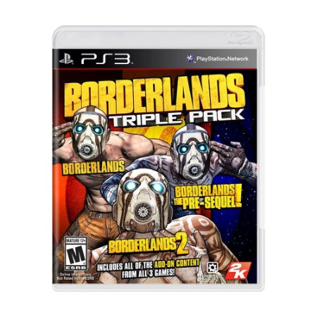 Jogo Borderlands Triple Pack - PS3