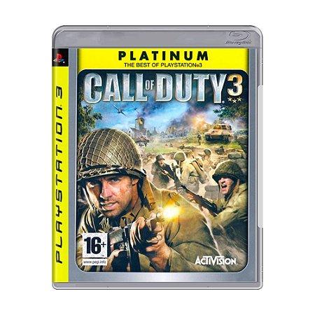 Jogo Call of Duty 3 (COD 3) - PS3