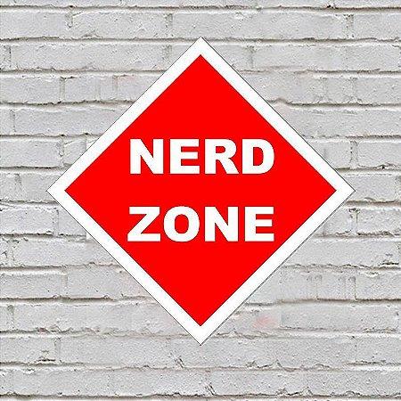 Placa de Parede Decorativa: Nerd Zone - ShopB