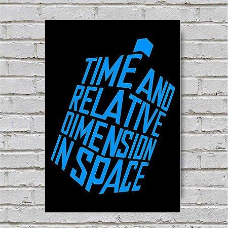 Placa De Parede Decorativa: Time And Relative Dimension In Space - Shopb