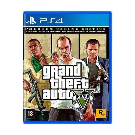 Jogo Grand Theft Auto V (Premium Online Edition) - PS4
