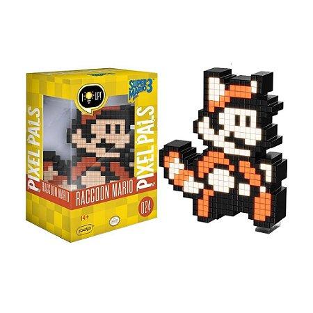 Luminária Pixel Pals Raccoon Mario 024 Super Mario Bros. 3 - PDP