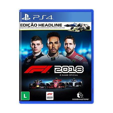 Jogo F1 2018 (Edição Headline) - PS4