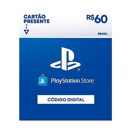 Cartão Presente R$60 PSN Brasil - Sony