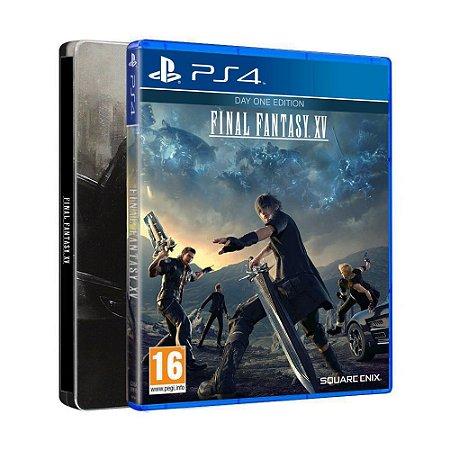 Jogo Final Fantasy XV (Steelbook Edition) - PS4