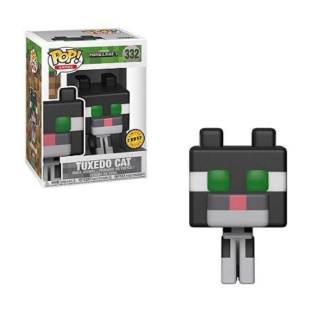 Boneco Tuxedo Cat 332 Minecraft (Edição Limitada Chase) - Funko Pop!