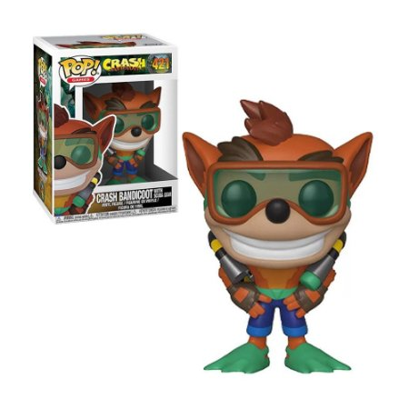 Boneco Crash Bandicoot with Scuba Gear 421 Crash Bandicoot - Funko Pop!