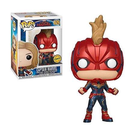 Boneco Captain Marvel 425 Marvel (Edição Limitada Chase) - Funko Pop!