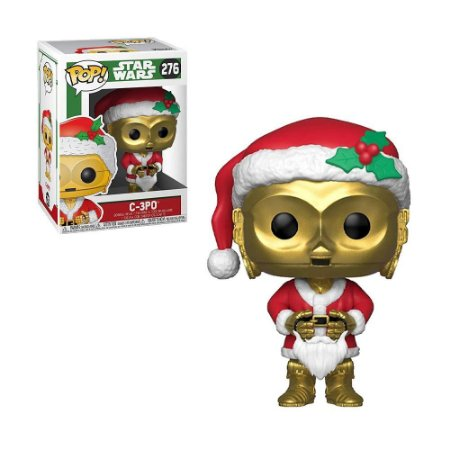 Boneco C-3PO  276 Star Wars Holiday - Funko Pop!