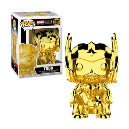 Boneco Thor Gold Chrome 381 Marvel Studios (The First Ten Years) - Funko Pop!