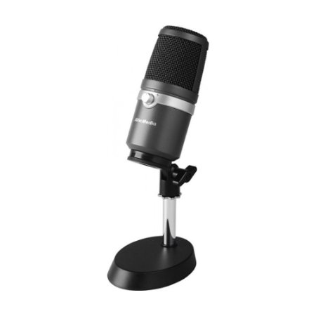 Microfone Condensador Profissional USB AVerMedia AM310 Preto - PC e Mac