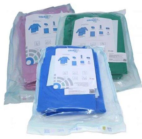 Kit Cirúrgico Estéril Paramentação - Tam. Universal TNT GR. 40 - Okro Lab (quantidade maior que 10 unidades)
