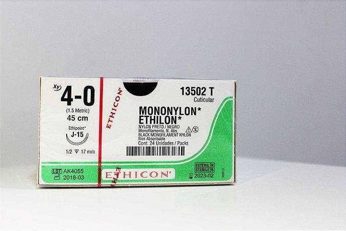 Fio de Sutura de Mononylon ETHILON 4-0 - 24 unidades - Johson & Johson