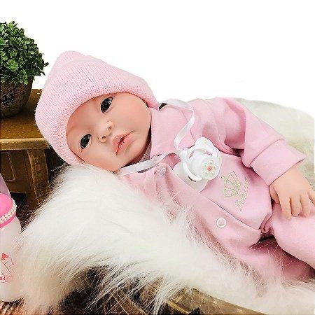 Bebe Reborn Boneca Realista Menina + Acessórios Pronta entrega