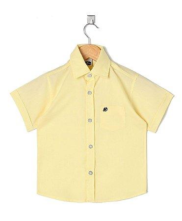 Camisa Manga Curta Amarela