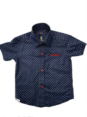 Camisa Manga Curta Estampada Bolso embutido