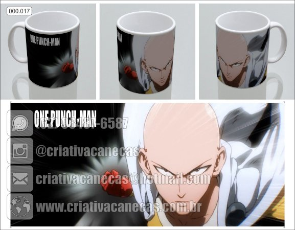 Caneca One Punch-Man
