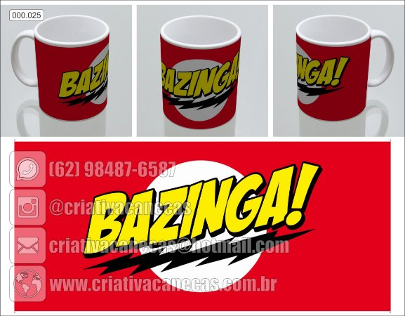 Caneca - The Big Bang Theory - Bazinga!