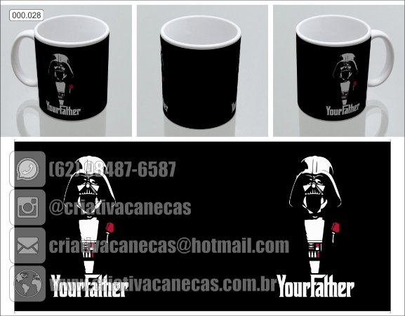Caneca - Star Wars - Your Father