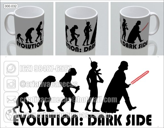 Caneca - Star Wars - Evolution - Dark Side